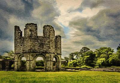 Painting - Ruins Of Mellifont Abbey by Jeff Kolker
