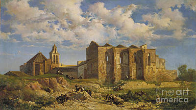 Sepulchre Painting - Ruins Of The Church Of The Holy Sepulchre by Alsina Barcelona