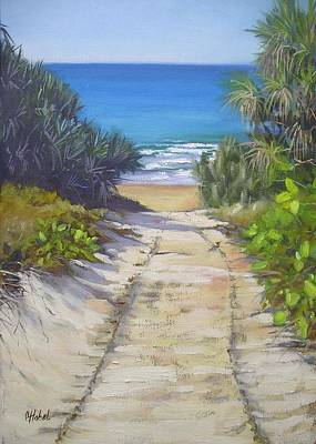 Painting - Rules Beach Queensland Australia by Chris Hobel