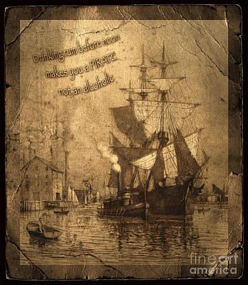 Historic Schooner Photograph - Rum Is The Reason by John Stephens