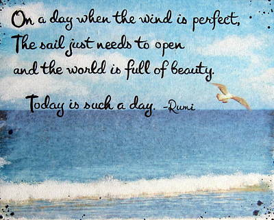Rumi Painting - Rumi Beach Quote by Michelle Eshleman
