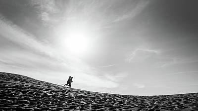 Faceless Photograph - Run - Death Valley National Park, California - Black And White Street Photography by Giuseppe Milo