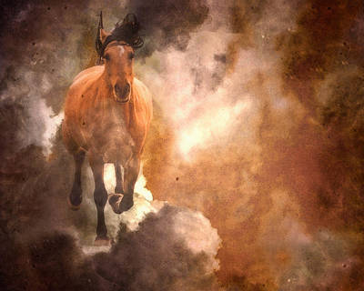 Run With Thunder Print by Ron  McGinnis