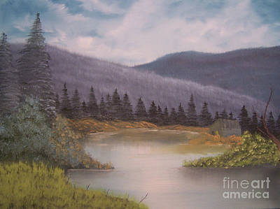 Trees Painting - Rundown Shack by Chet Wheeler