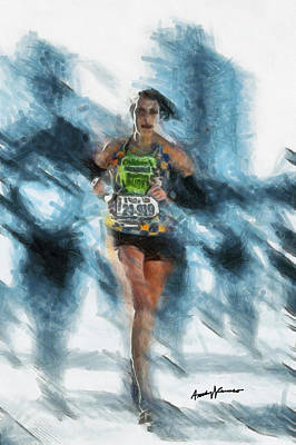 Runner Print by Anthony Caruso