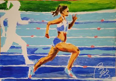 Inner World Painting - Runner I by Bachmors Artist