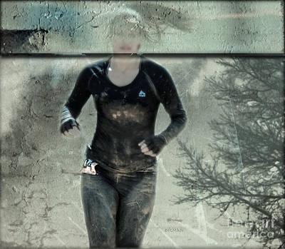 Running Photograph - Running Abstract by Steven  Digman