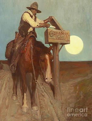 Mount Rushmore Drawing - Rural Delivery by Newell Convers Wyeth
