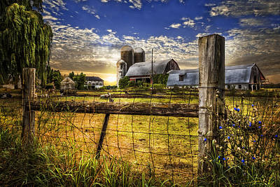 Rural Farms Print by Debra and Dave Vanderlaan
