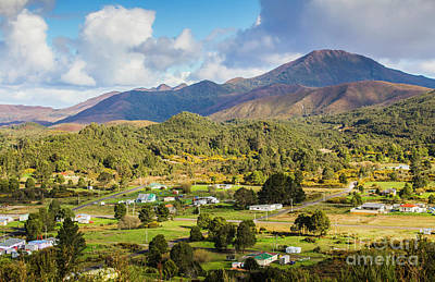 Rural Landscape With Mountains And Valley Village Print by Jorgo Photography - Wall Art Gallery