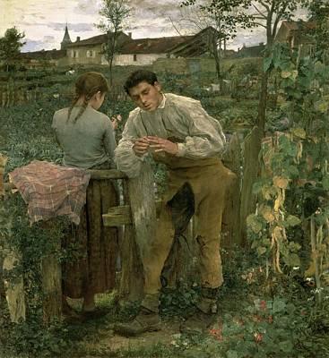 Secret Admirer Painting - Rural Love by Jules Bastien Lepage
