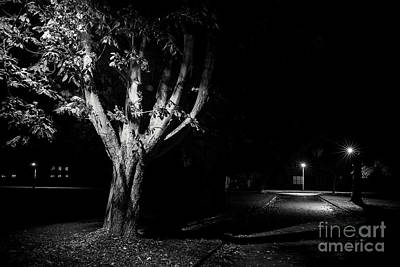 Rural Street Life At Night Print by Simon Bratt Photography LRPS