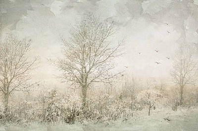 Rural Winter Landscape Print by Julie Palencia