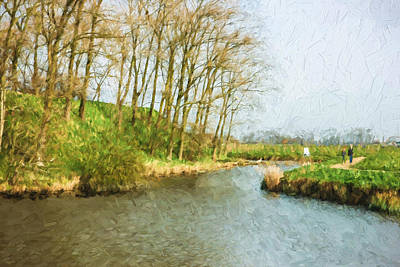 Rural Winter Landscape - Painterly Print by Pati Photography