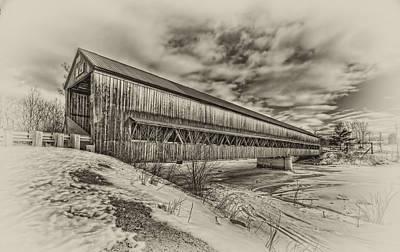Rusagonish Covered Bridge Print by Jason Bennett