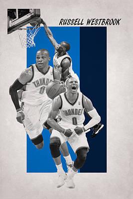 Russell Westbrook Thunder Print by Joe Hamilton