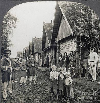 Babushka Photograph - Russia: Peasants by Granger