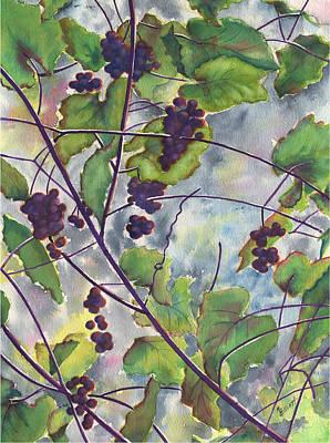 Grape Vine Painting - Russian Grapes by Marsha Elliott