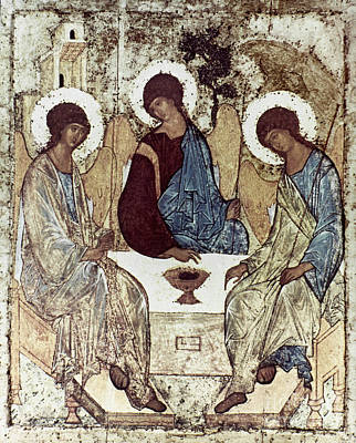 Russian Icon Photograph - Russian Icons: The Trinity by Granger