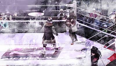 Beverly Hills Drawing - Russian Knight Fight 3 by Jani Heinonen