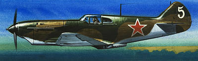 Jet Painting - Russian Lavochkin Fighter During World War Two by Wilf Hardy