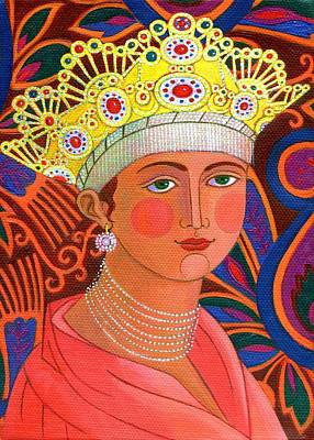Russian Icon Painting - Russian Princess by Jane Tattersfield