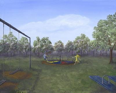 Swing Painting - Russian Roulette For Five Year Olds by Kent Nicklin