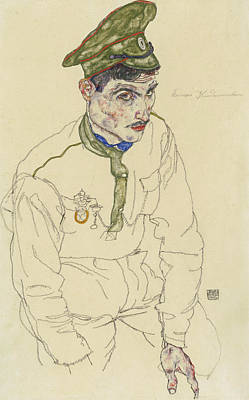 Schiele Drawing - Russian War Prisoner by Egon Schiele