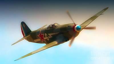 Yak Digital Art - Russian Yak No.6  2011 Chino Air Show by Gus McCrea