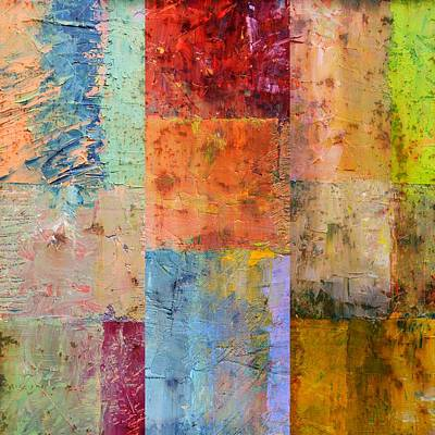 Square Painting - Rust Study 2.0 by Michelle Calkins