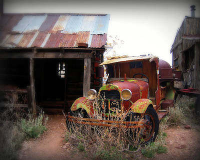 Shack Photograph - Rusted Classic by Perry Webster
