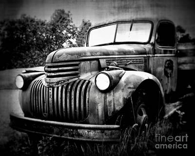 Rusted Flatbed Print by Perry Webster