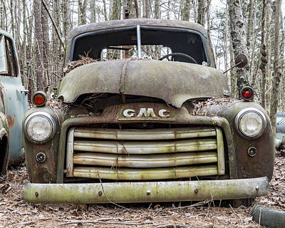 Rusted Gmc Pickup Truck Print by Robert Myers