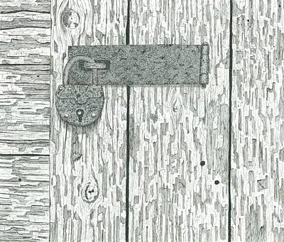 Rusted Lock And Latch Print by Ed Einboden
