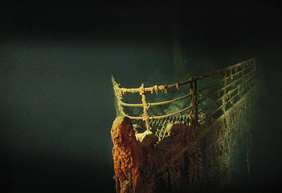 Photograph - Rusted Prow Of The R.m.s. Titanic Ocean by Emory Kristof