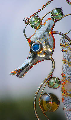 Wind Chimes Photograph - Rusted Seahorse by Frank Mari