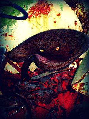 Curves Mixed Media - Rusted Seat by Dana  Oliver
