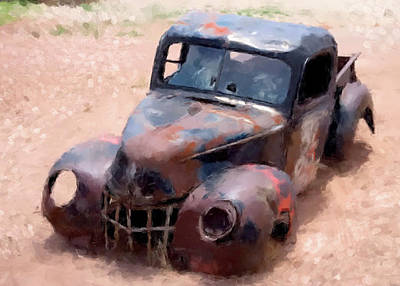 Digital Art - Rusted Truck by Gary Grayson