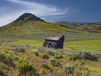 Old Cabins Photograph - Rustic And Weathered by Leland D Howard