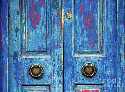 Rustic Blue Doors Print by Tim Gainey