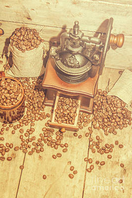 Old Grinders Photograph - Rustic Country Coffee House Still by Jorgo Photography - Wall Art Gallery