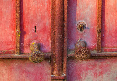 Portugal Art Painting - Rustic Door Of Portugal by David Letts