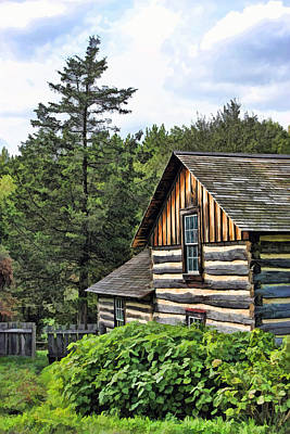 Log Cabin Painting - Rustic Farmhouse At Old World Wisconsin by Christopher Arndt