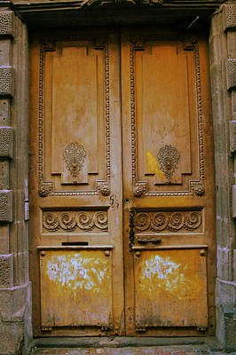 Rustic French Door Print by Georgia Fowler