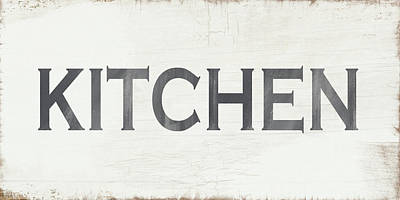 Rustic Kitchen Sign- Art By Linda Woods Print by Linda Woods
