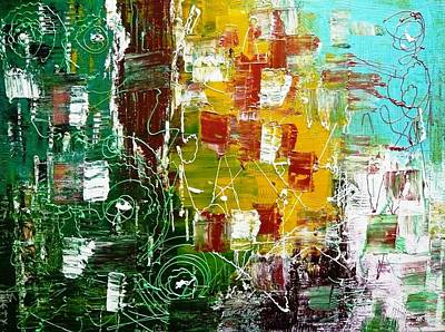Abstractz Painting - Rustic Momentz by Piety Dsilva