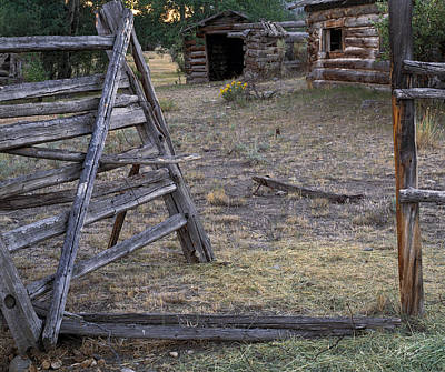Old Cabins Photograph - Rustic Pioneer History by Leland D Howard