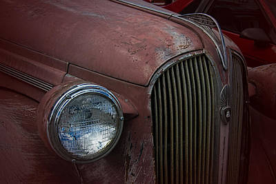 Mascot In Chrome Photograph - Rustic Plymouth by Nick Gray