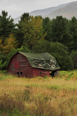Photograph - Rustic Red Barn Keene Valley Ny V by Terry DeLuco