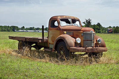 Old Trucks Digital Art - Rusting Away 3 by Mike McGlothlen